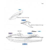RECAMBIO DE RECAMBIO DE ADHESIVO MARCA KAWASAKI STX-12F / STX-15F