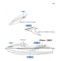 RECAMBIO DE ADHESIVO STX-15F KAWASAKI STX-15F 2004-2005