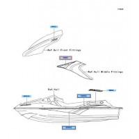 ADHESIVO TAPA LATERAL DERECHA KAWASAKI STX-15F 2004-2005