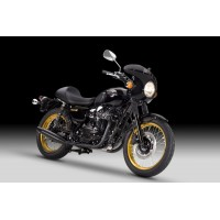 DOBLE ESCAPE CONICO NEGRO KAWASAKI W800 2011